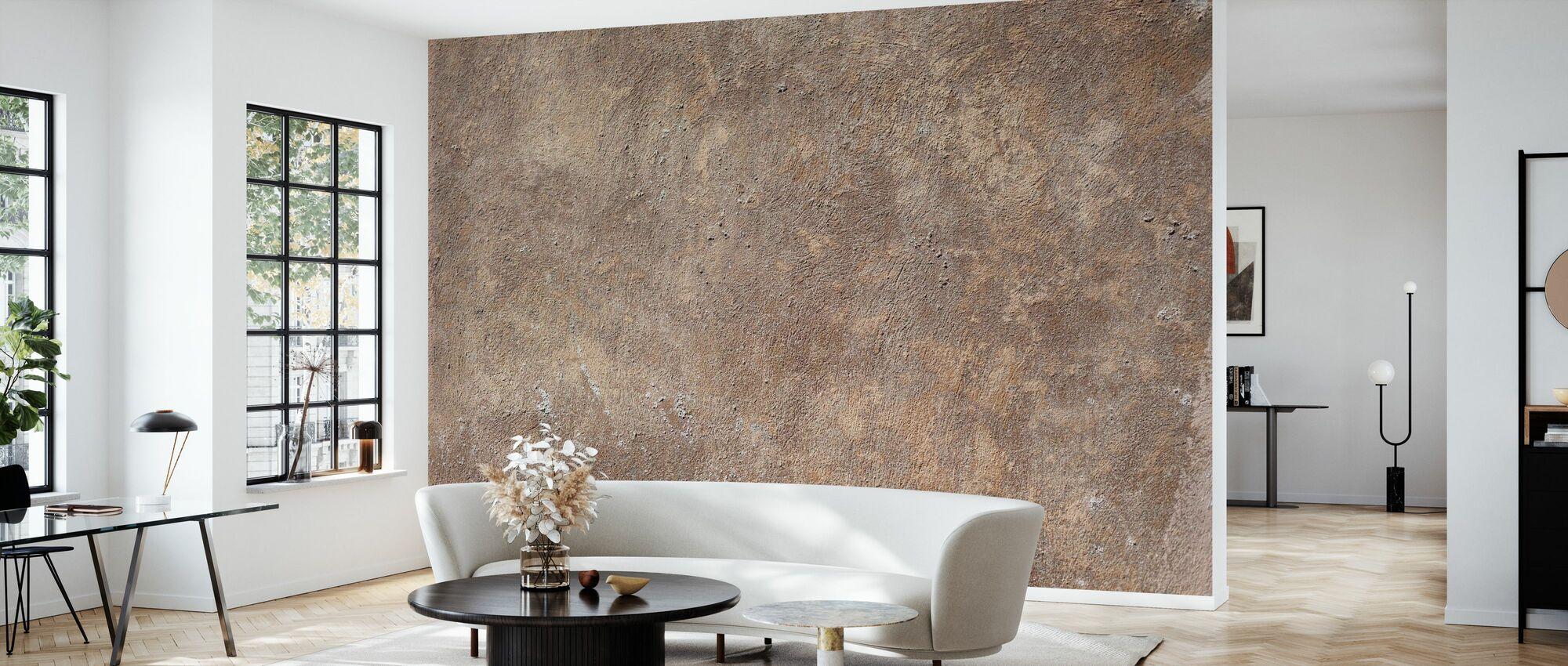 gestrahlte Wand - Tapete - Wohnzimmer