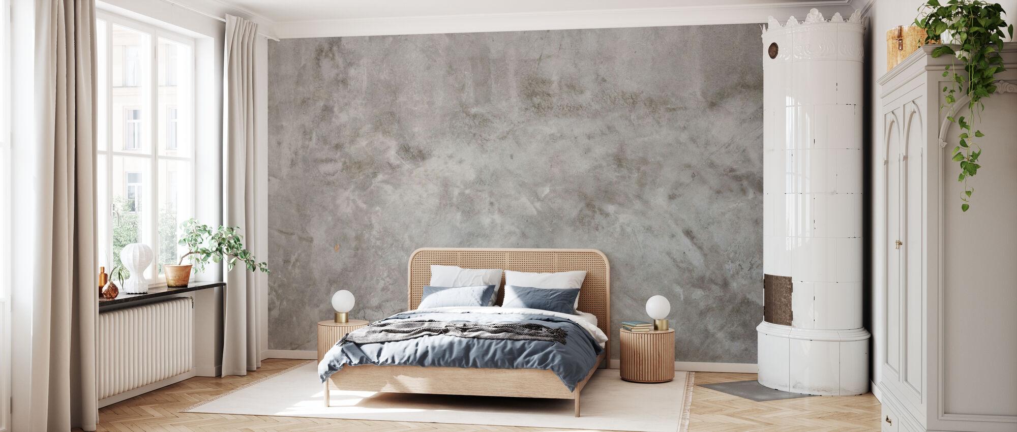Betonwand Textur - Tapete - Schlafzimmer
