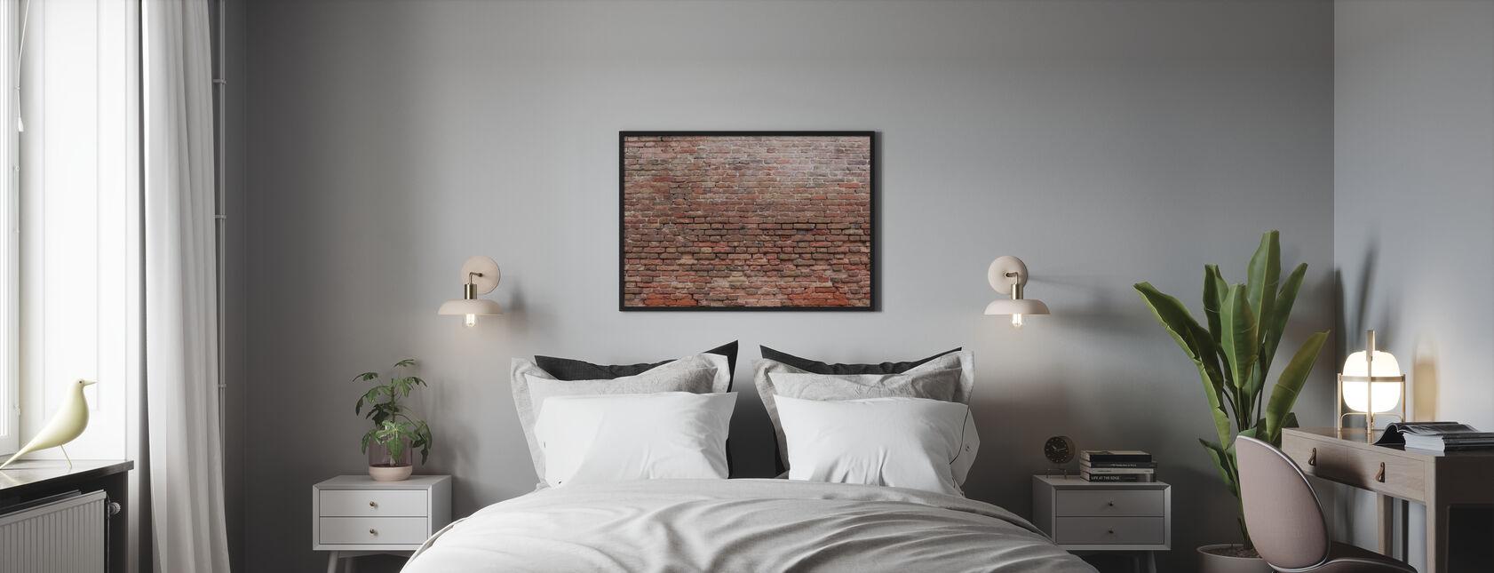 Vervallige bakstenen muur - Poster - Slaapkamer