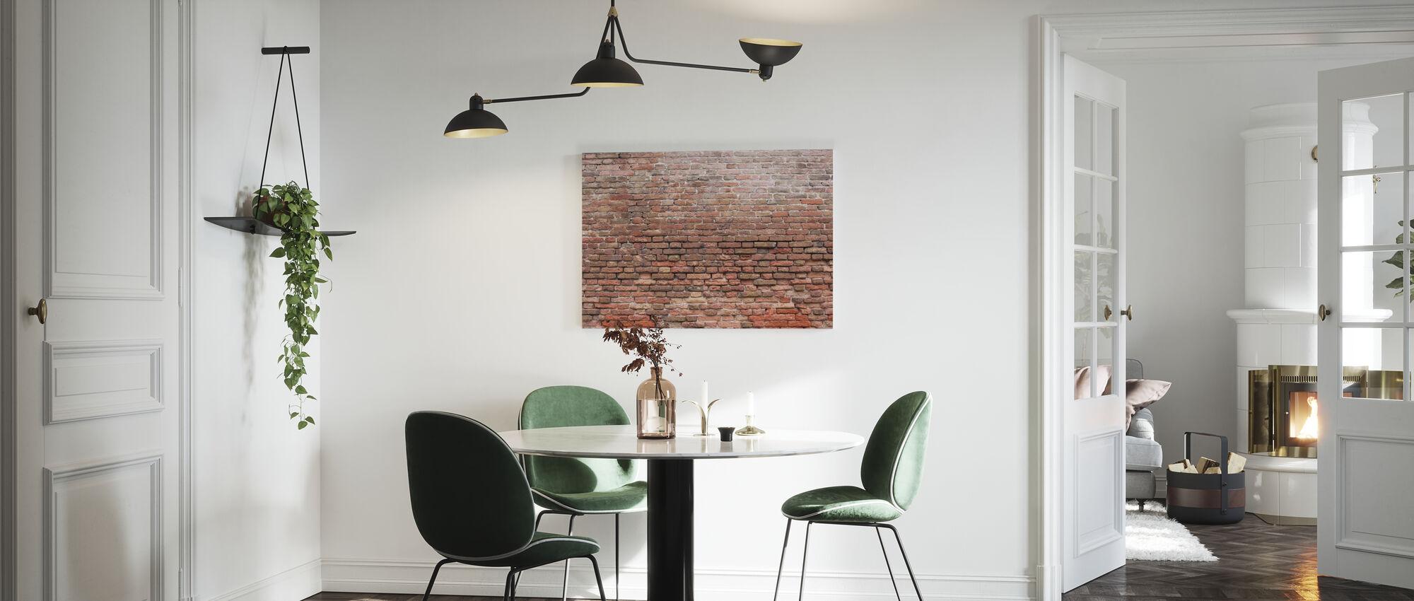 Dilapidated Brick Wall - Canvas print - Kitchen