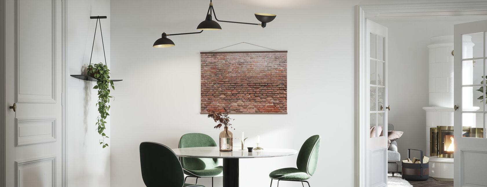 Vervallige bakstenen muur - Poster - Keuken
