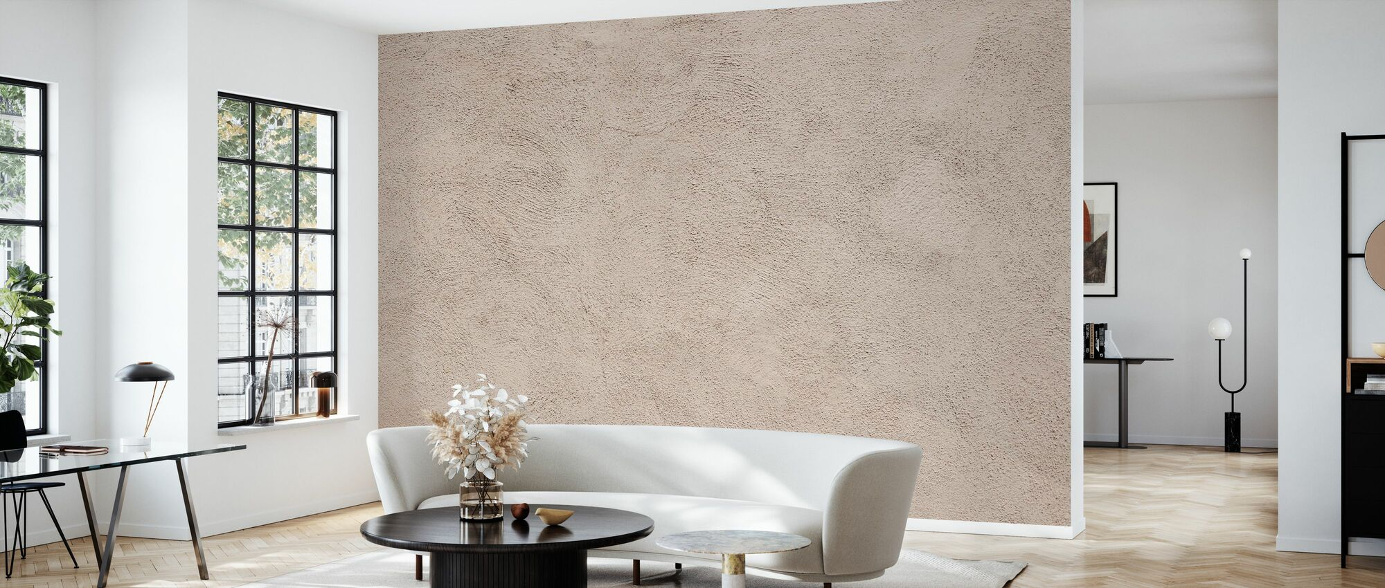 Italienische hellbraune Wand - Tapete - Wohnzimmer