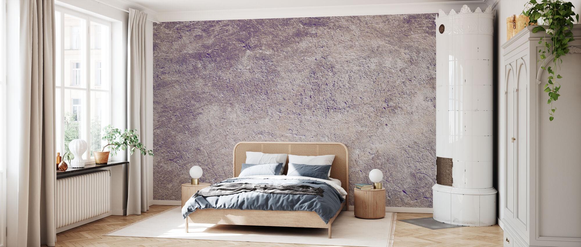 Flieder farbige Betonwand - Tapete - Schlafzimmer
