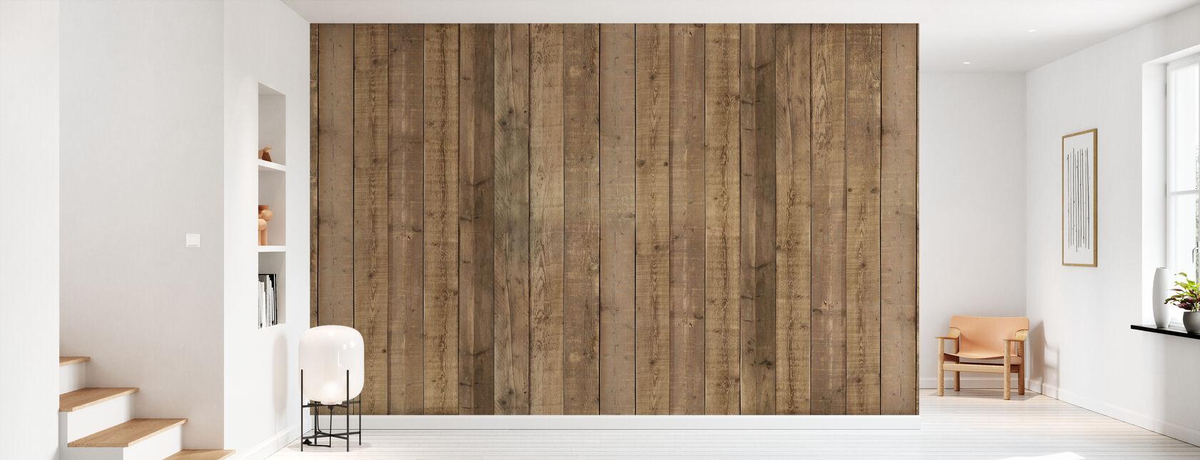 Plank Vegg - Tapet - Gang