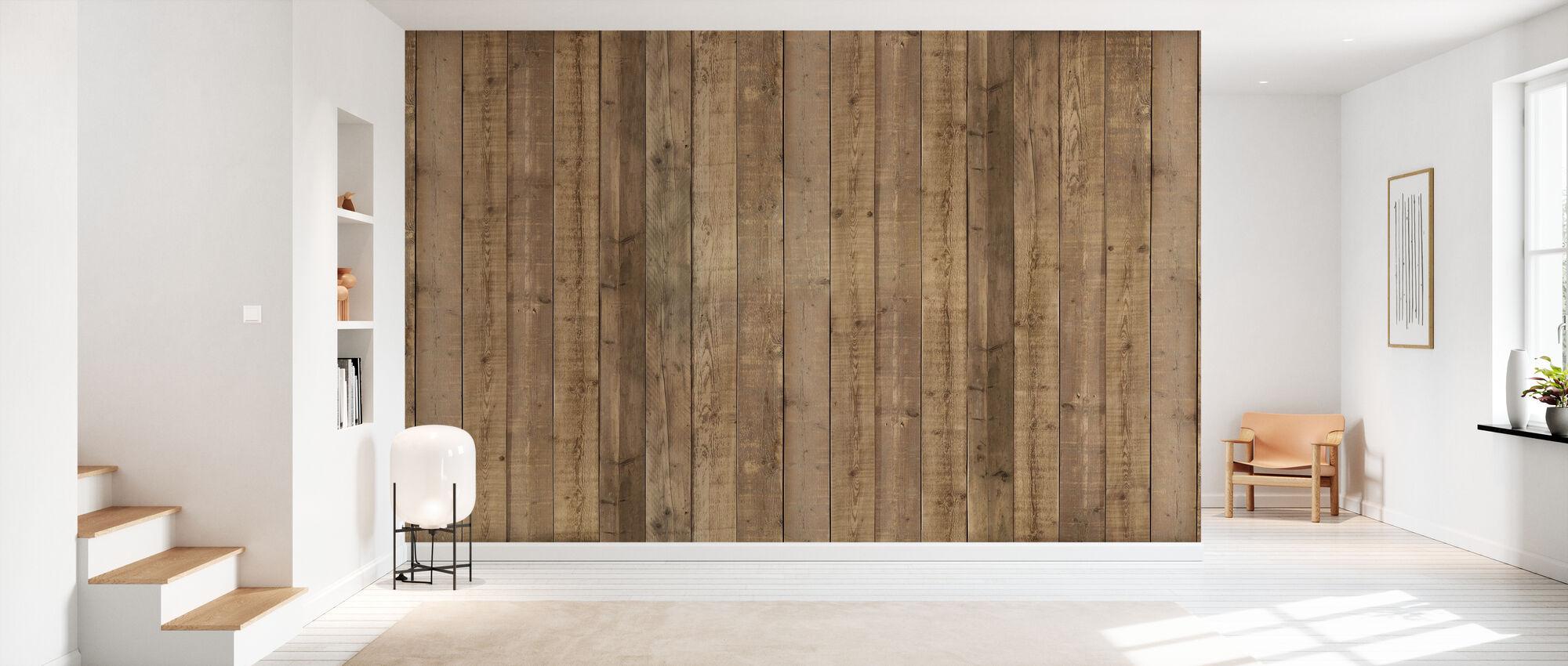 Planka vägg - Tapet - Hall