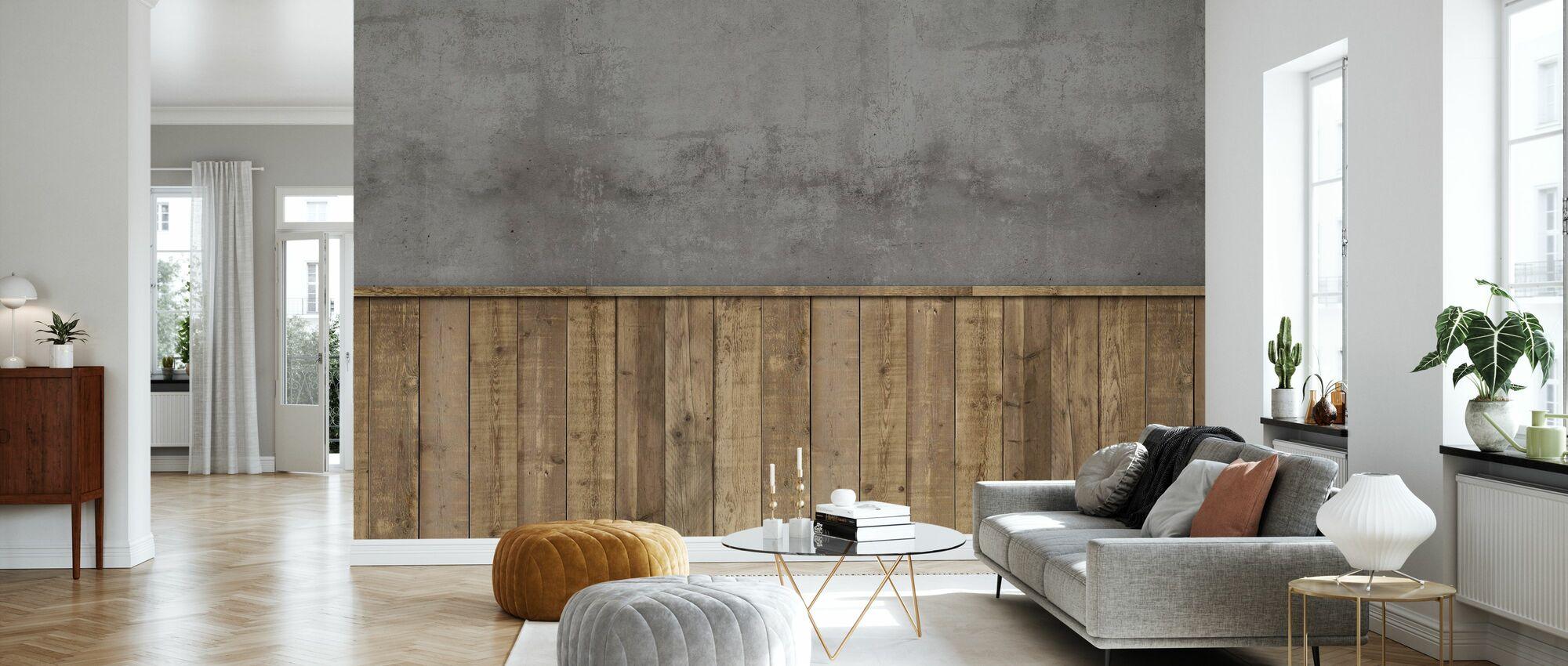 Rough Store Wall - Wallpaper - Living Room
