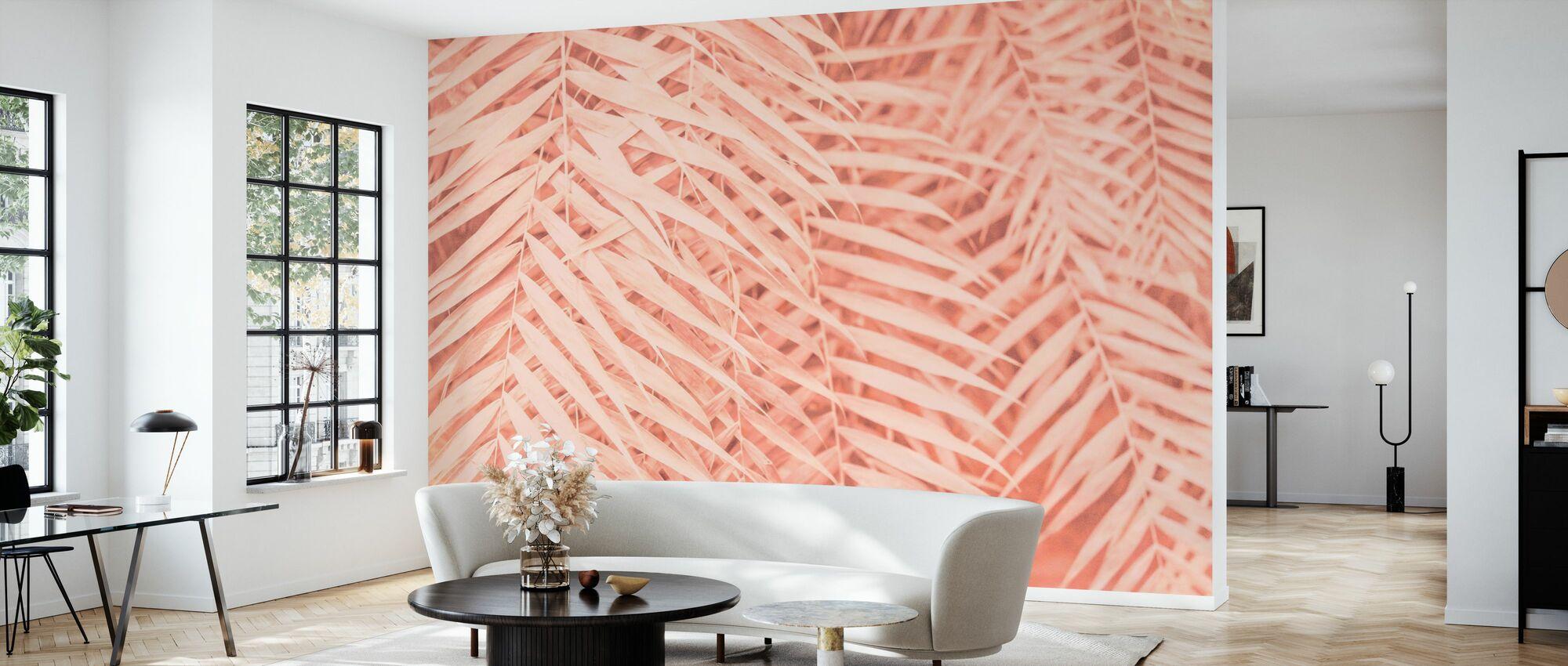 Tropische Palmenblätter - Tapete - Wohnzimmer