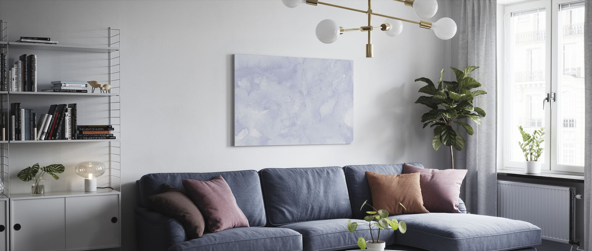 Watercolor Minimalism XV - Canvas print - Living Room