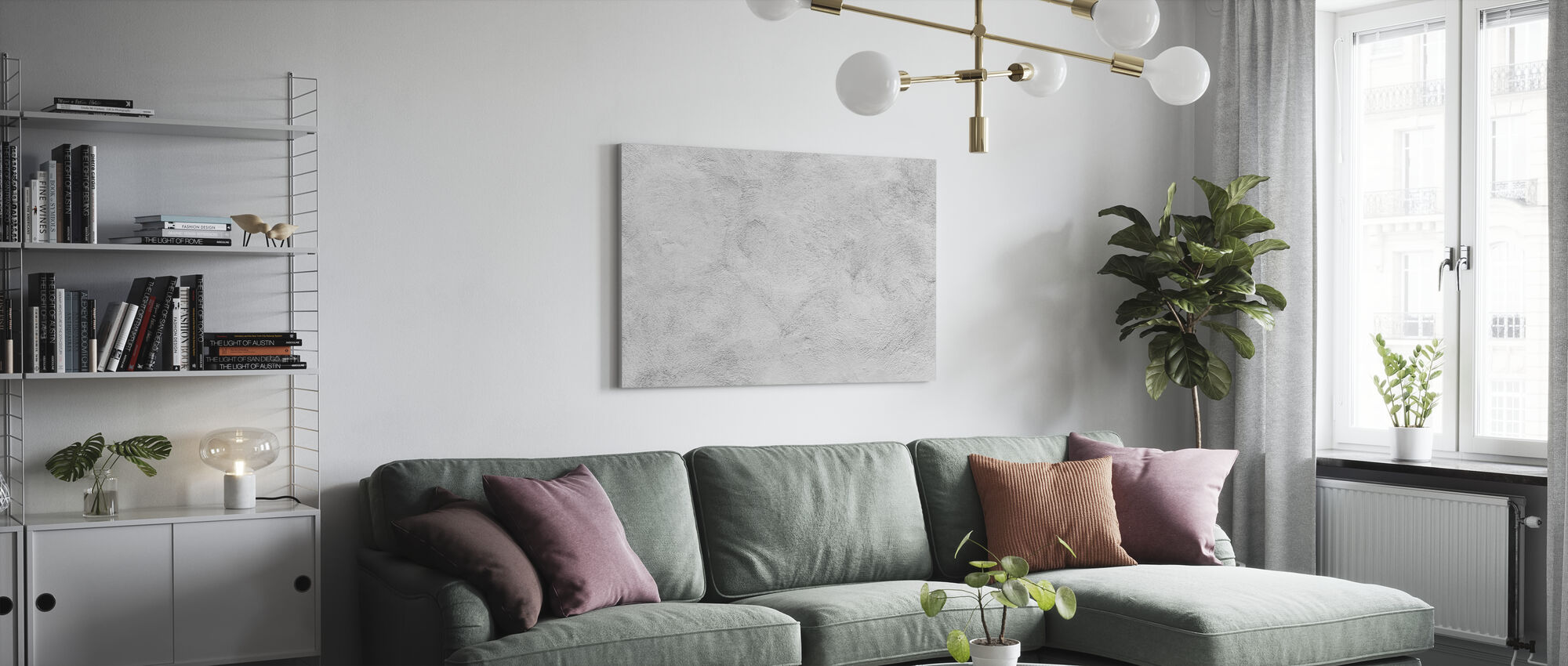 White Washed Concrete - Canvas print - Living Room