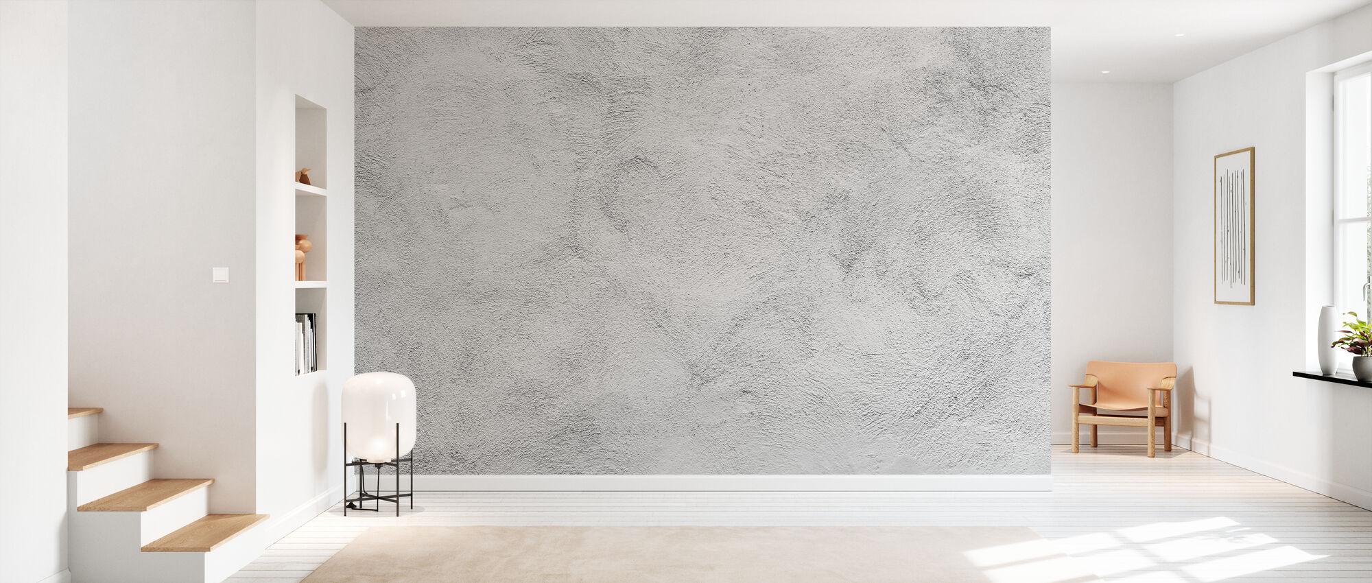 White Washed Concrete - Wallpaper - Hallway