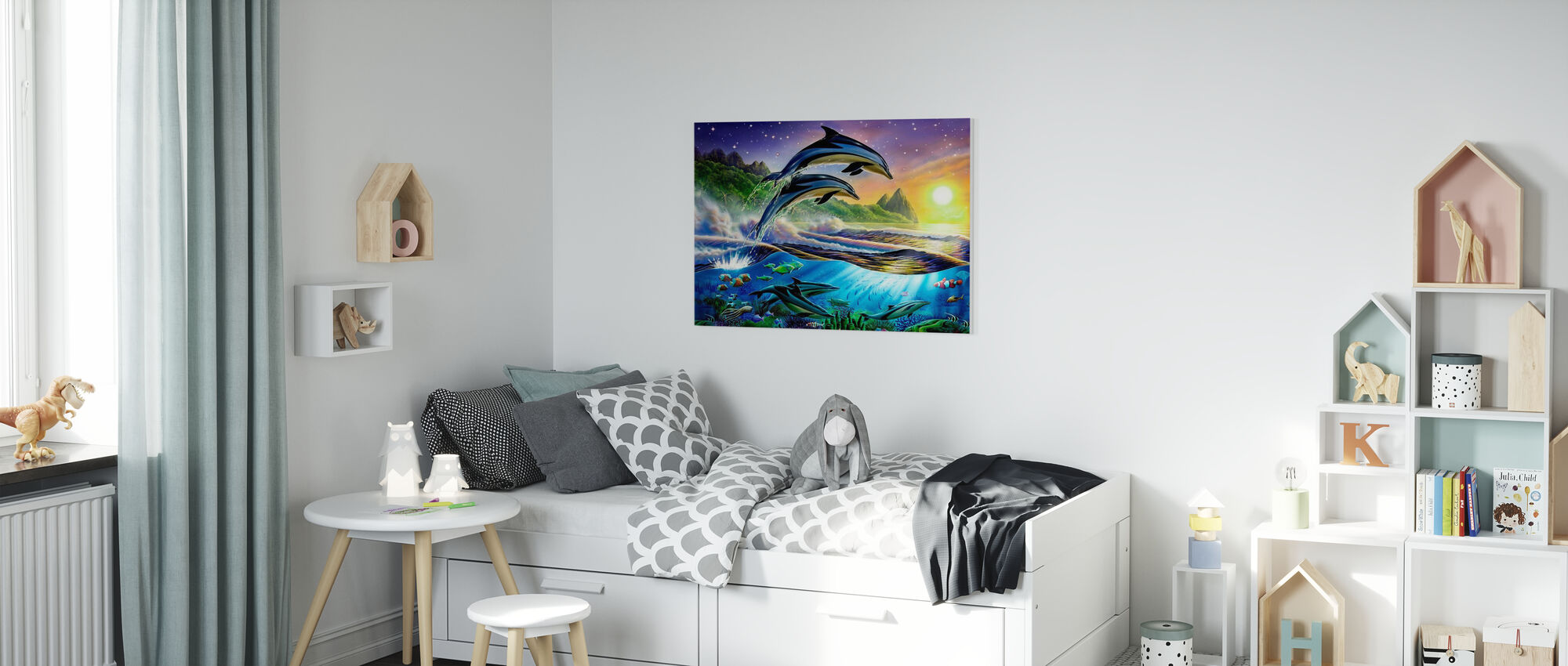 Atlantic Dolphins - Canvas print - Kids Room