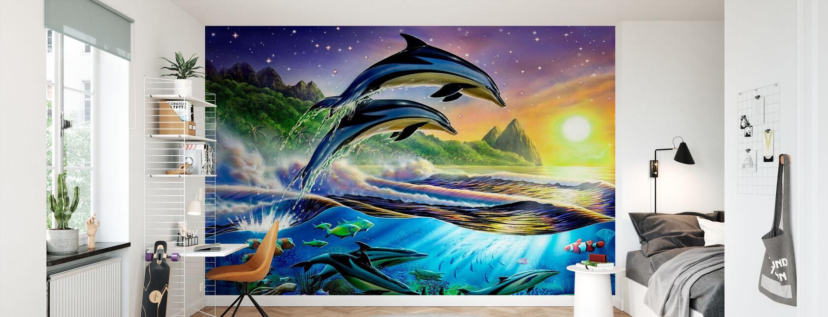 Atlantic Dolphins - Wallpaper - Kids Room