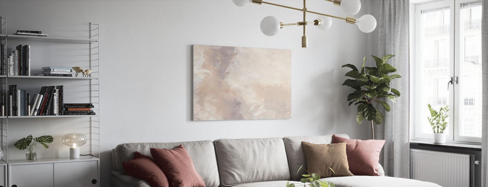 Blush Circular - Leinwandbild - Wohnzimmer