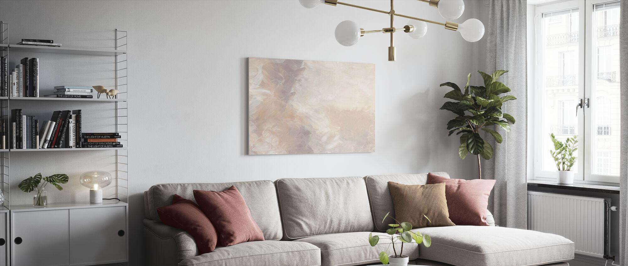 Blush Circular - Canvas print - Living Room
