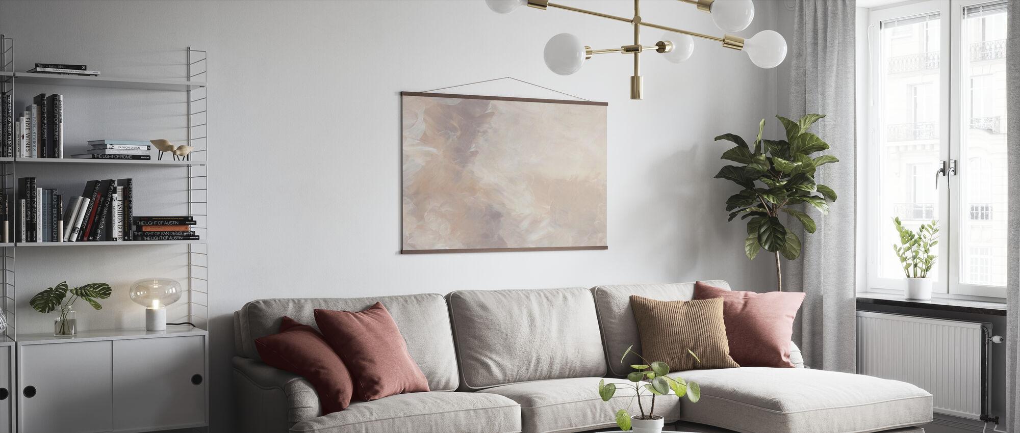 Blush Circular - Poster - Living Room