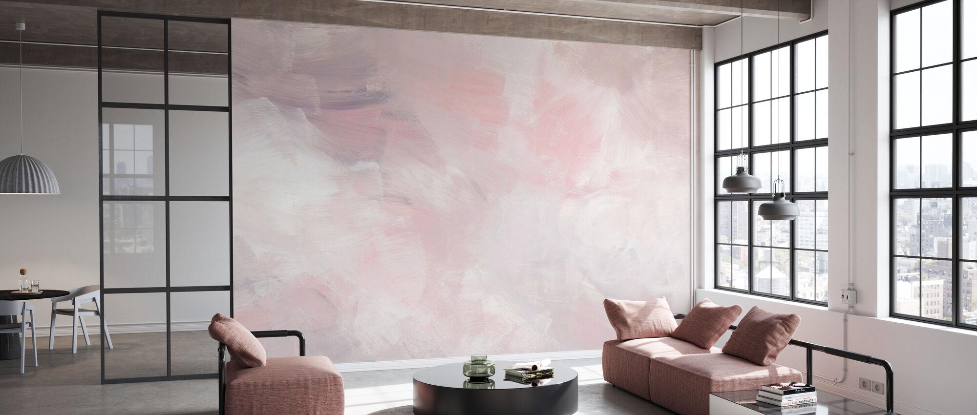 Blush Pink - Wallpaper - Office