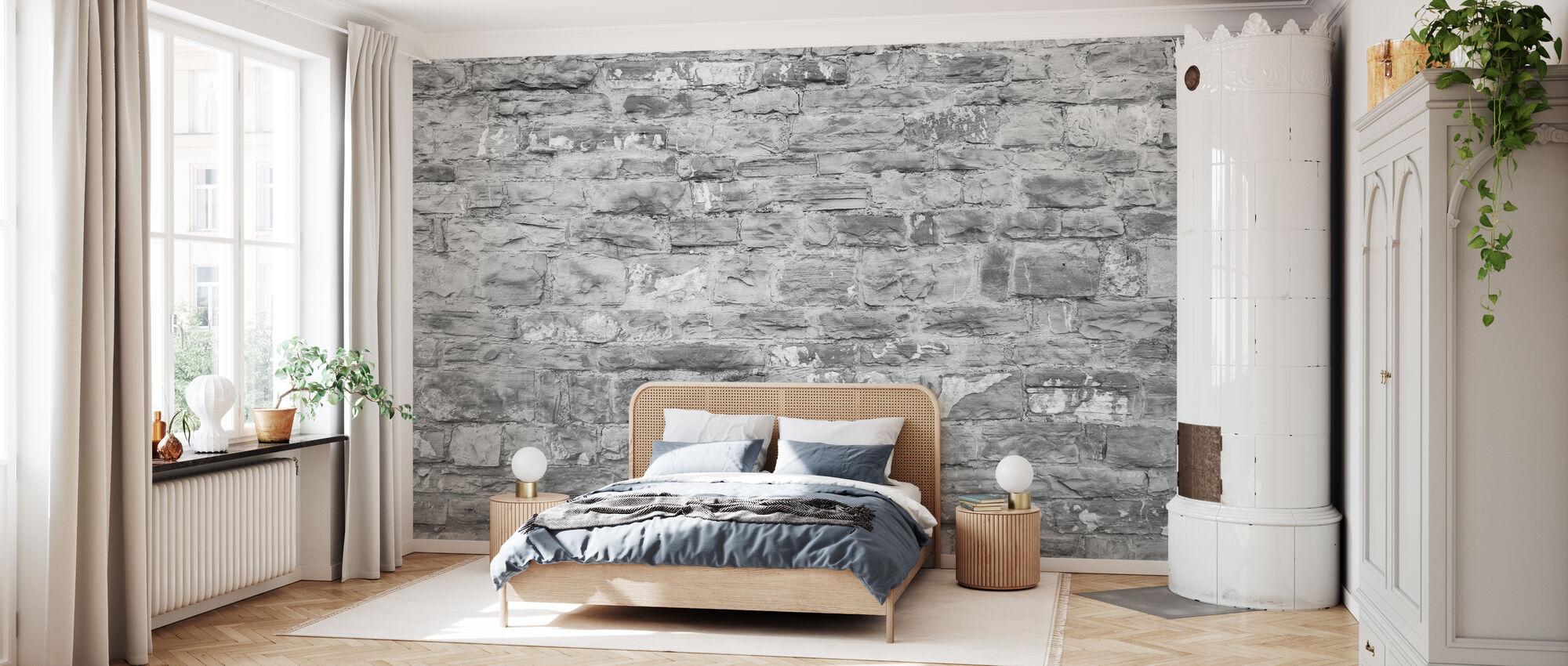 Covered Brick Wall - Wallpaper - Bedroom