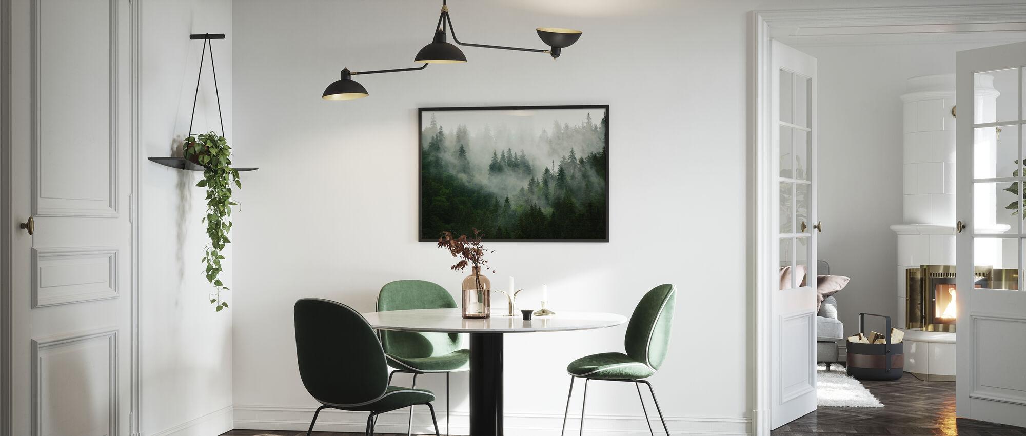 Foggy Forest - Framed print - Kitchen