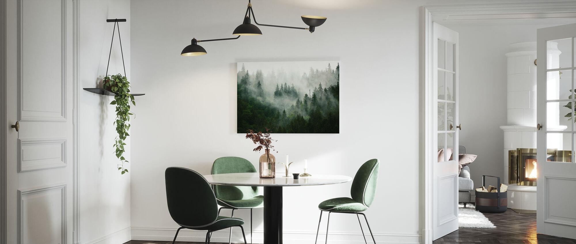 Foresta nebbiosa - Stampa su tela - Cucina