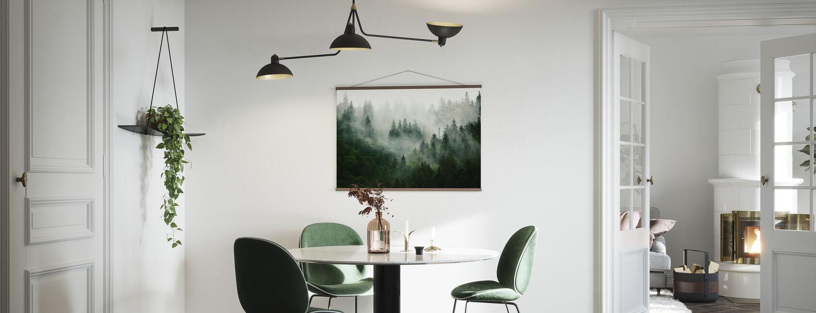 Mistig bos - Poster - Keuken