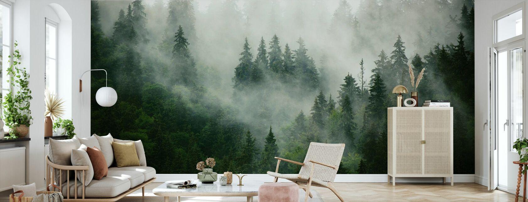 Foggy Forest - Wallpaper - Living Room