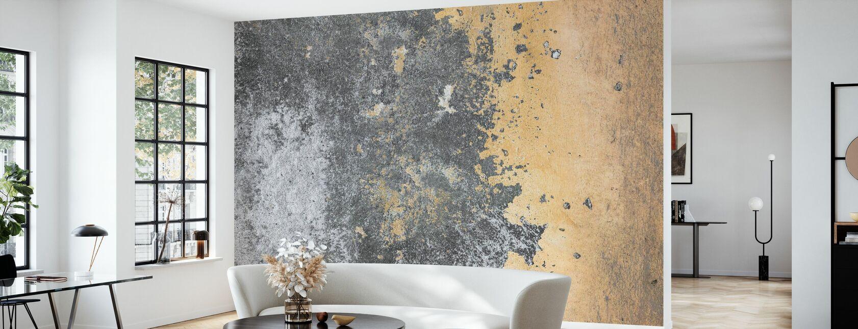 Grunge und Peeling Wand - Tapete - Wohnzimmer