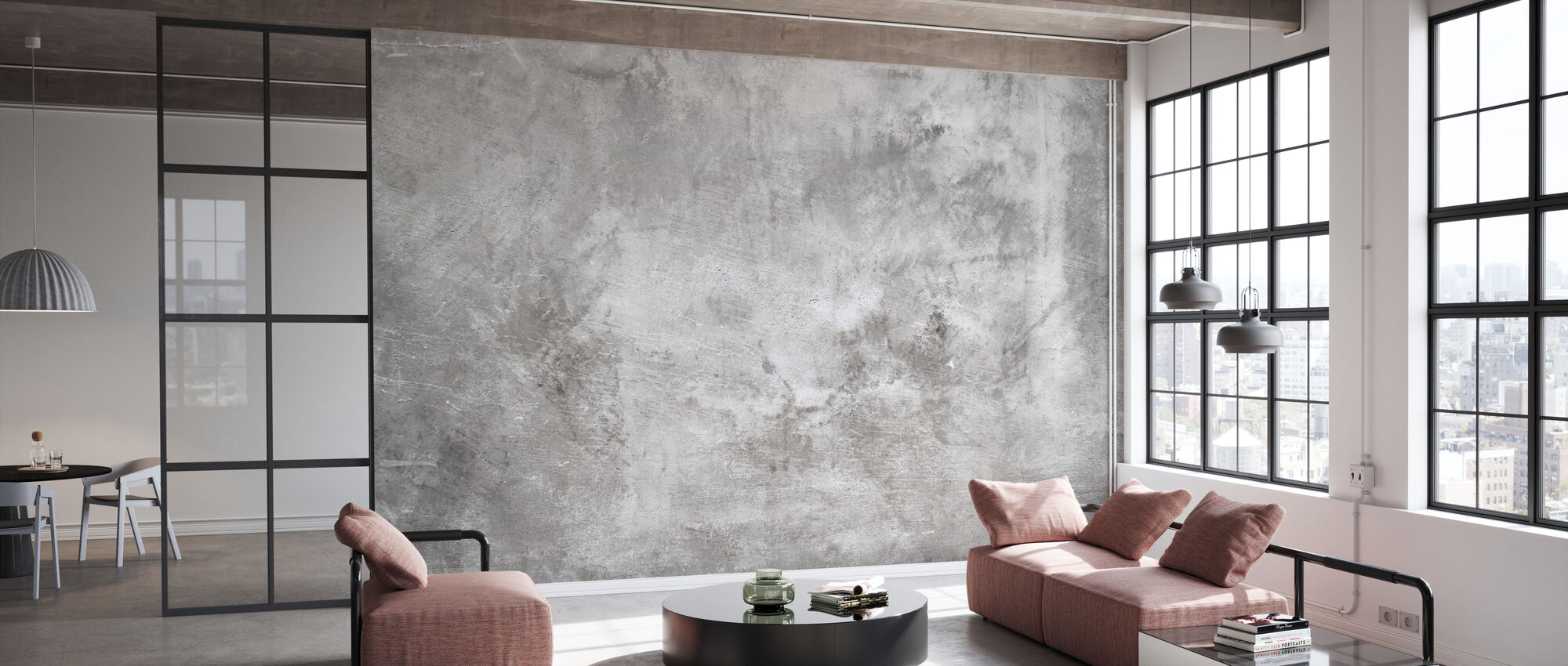 Grungy Rough Concrete Wall - Wallpaper - Office