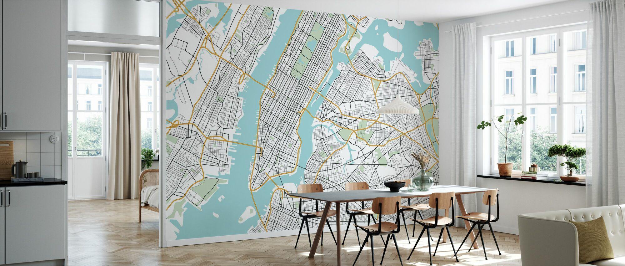 Mappa New York - Carta da parati - Cucina