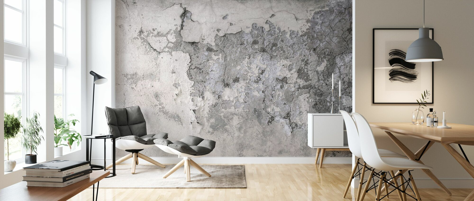 Old Cracked Wall - Wallpaper - Living Room