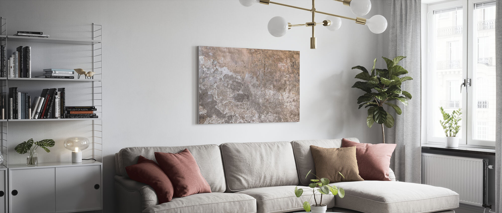Old Paint Cracked Wall - Canvas print - Living Room
