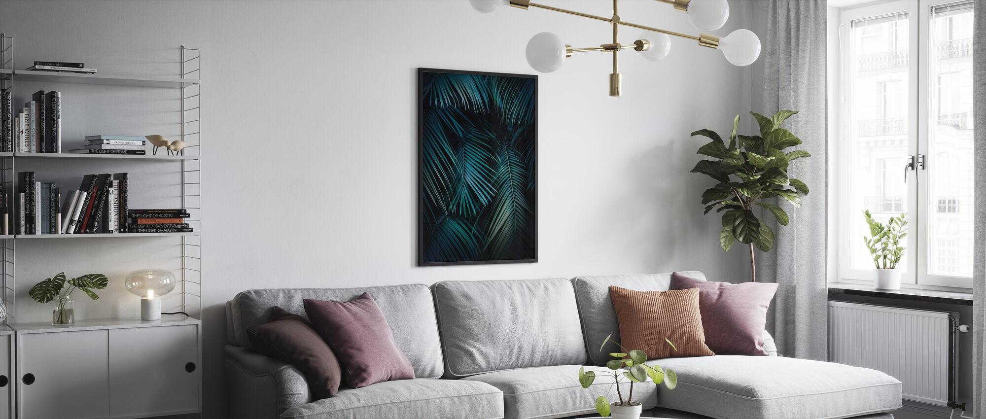 Palmblätter in der Nacht - Poster - Wohnzimmer