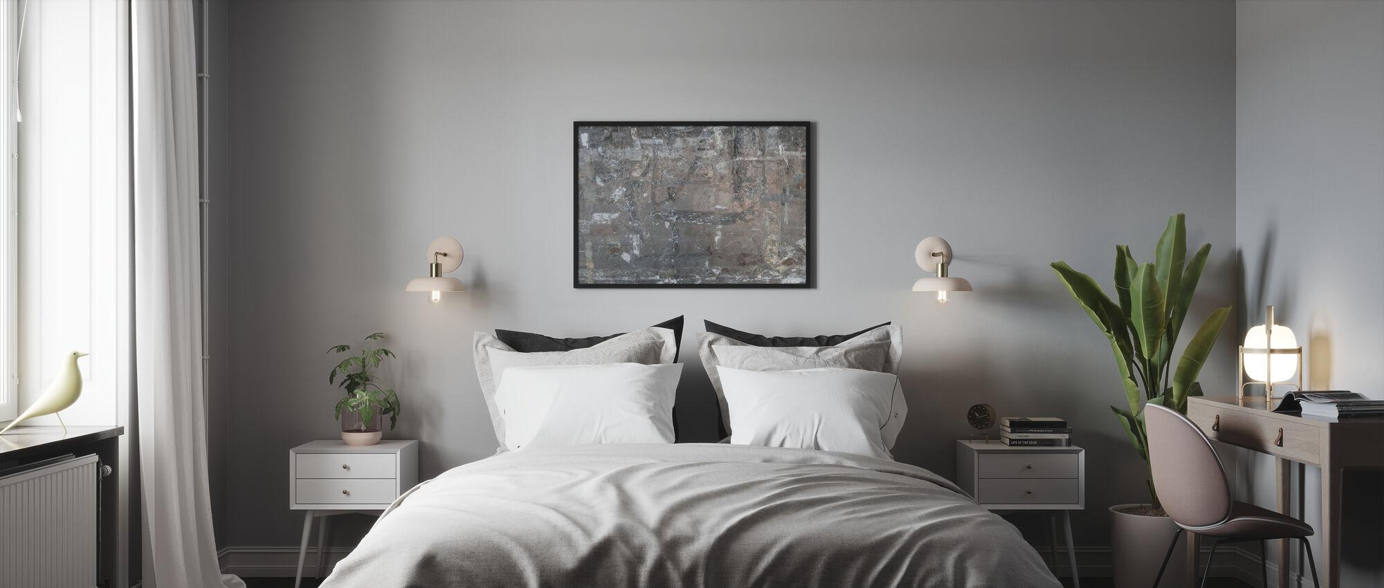 Ripannut julisteen seinä - Kehystetty kuva - Makuuhuone