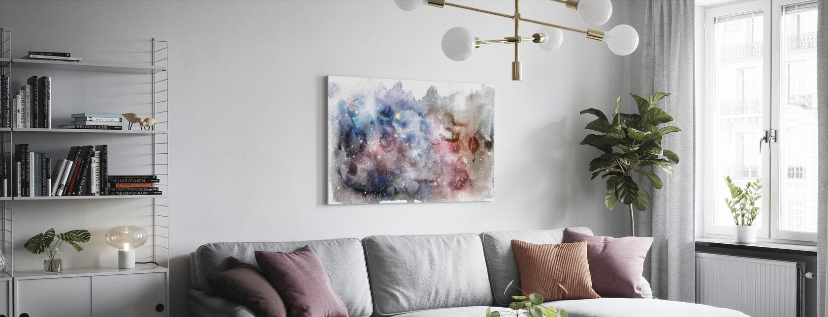 Watercolor Galaxy V - Canvas print - Living Room