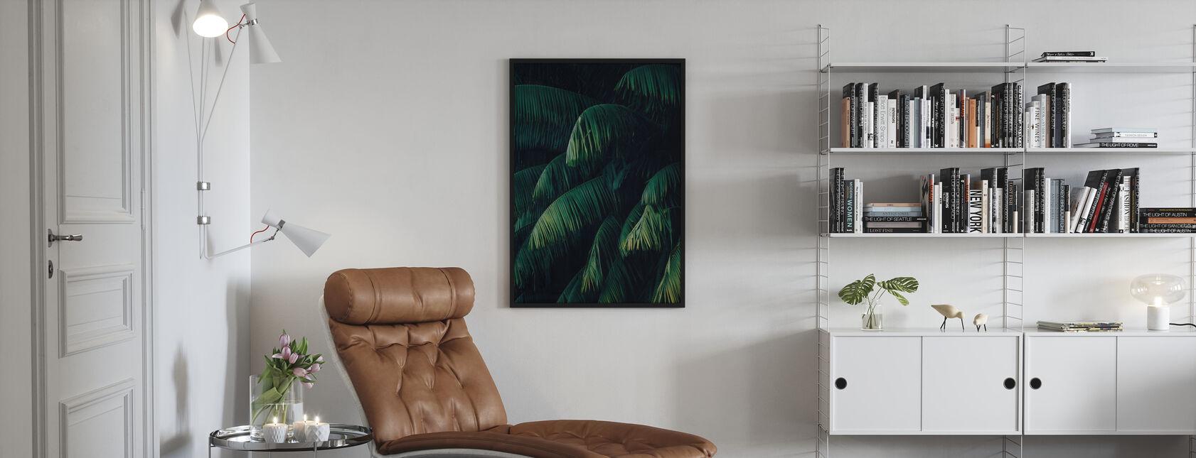 Tropiske palmeblader - Plakat - Stue