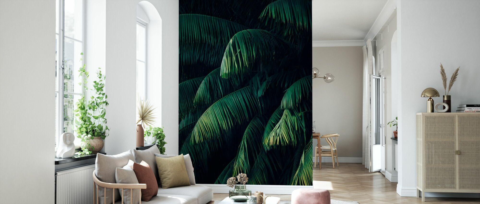 Feuilles de palmier tropicales - Papier peint - Salle à manger