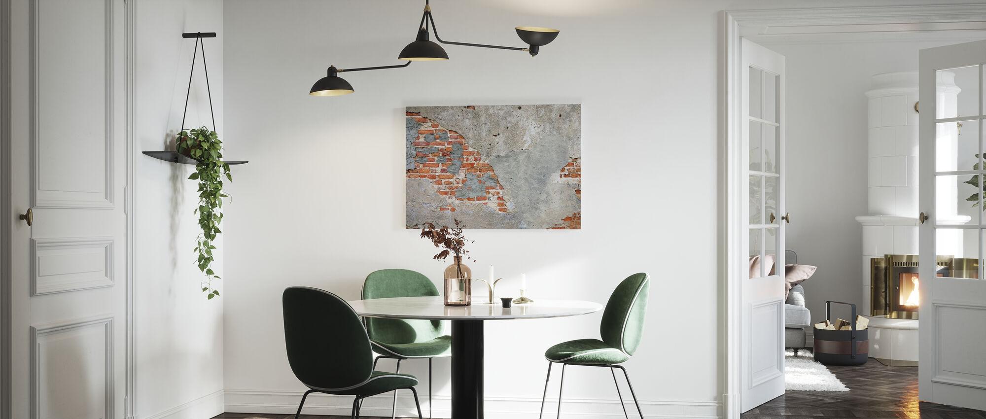 Brick Wall - Canvas print - Kitchen