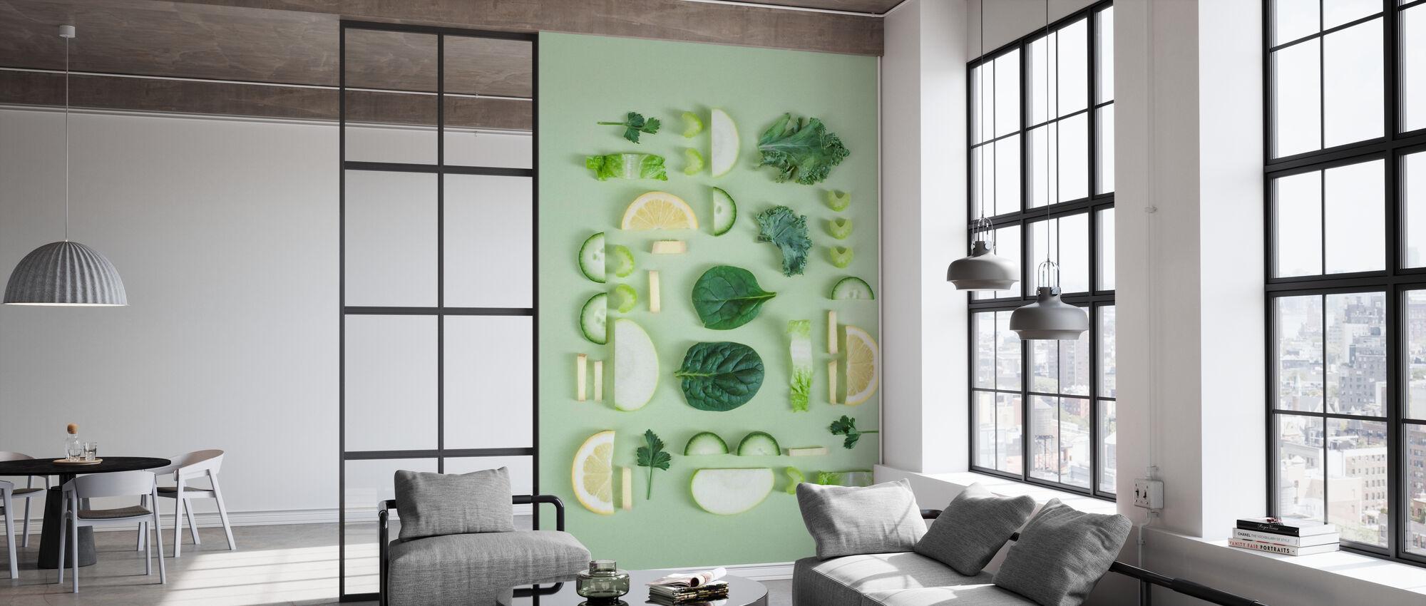 Obst und Gemüse - Tapete - Büro