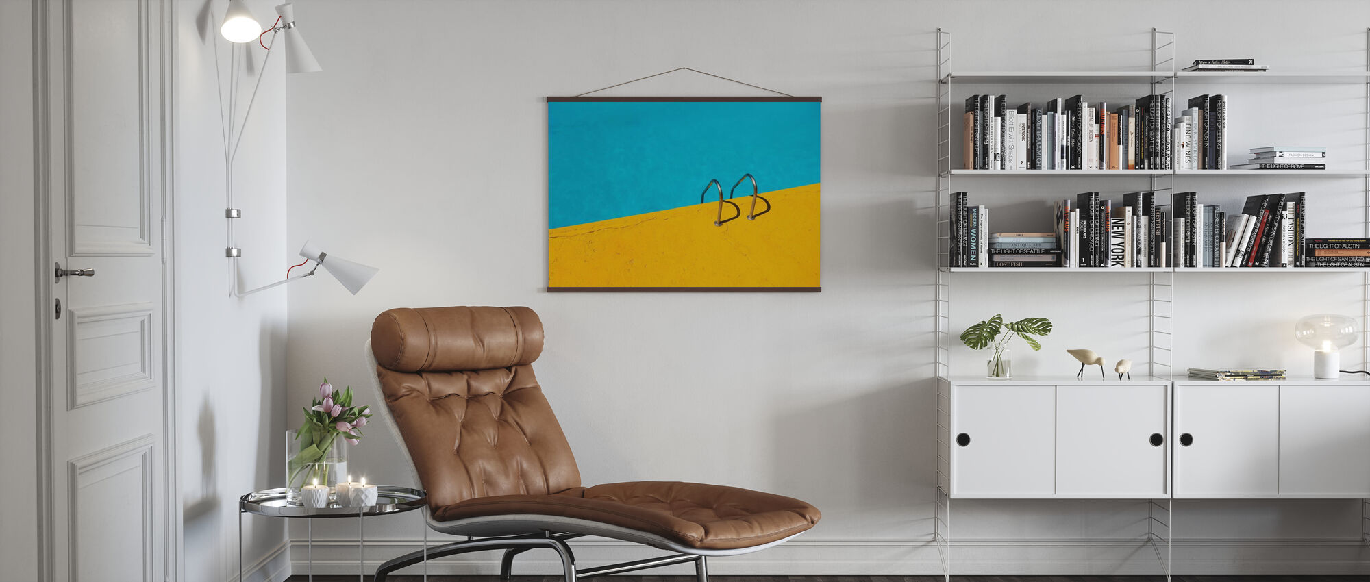 Swimming Pool Handrail - Poster - Living Room