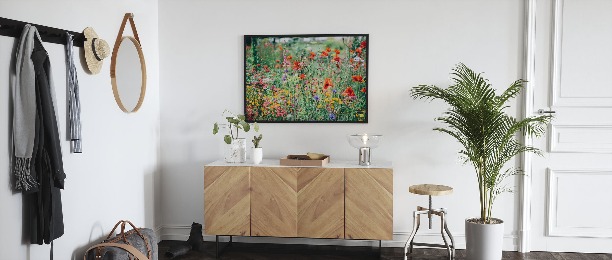 Mooie Wildflower - Ingelijste print - Gang