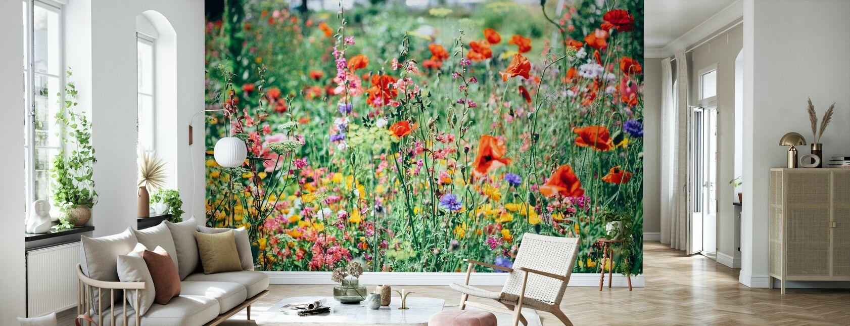 Beautiful Wildflower - Wallpaper - Living Room