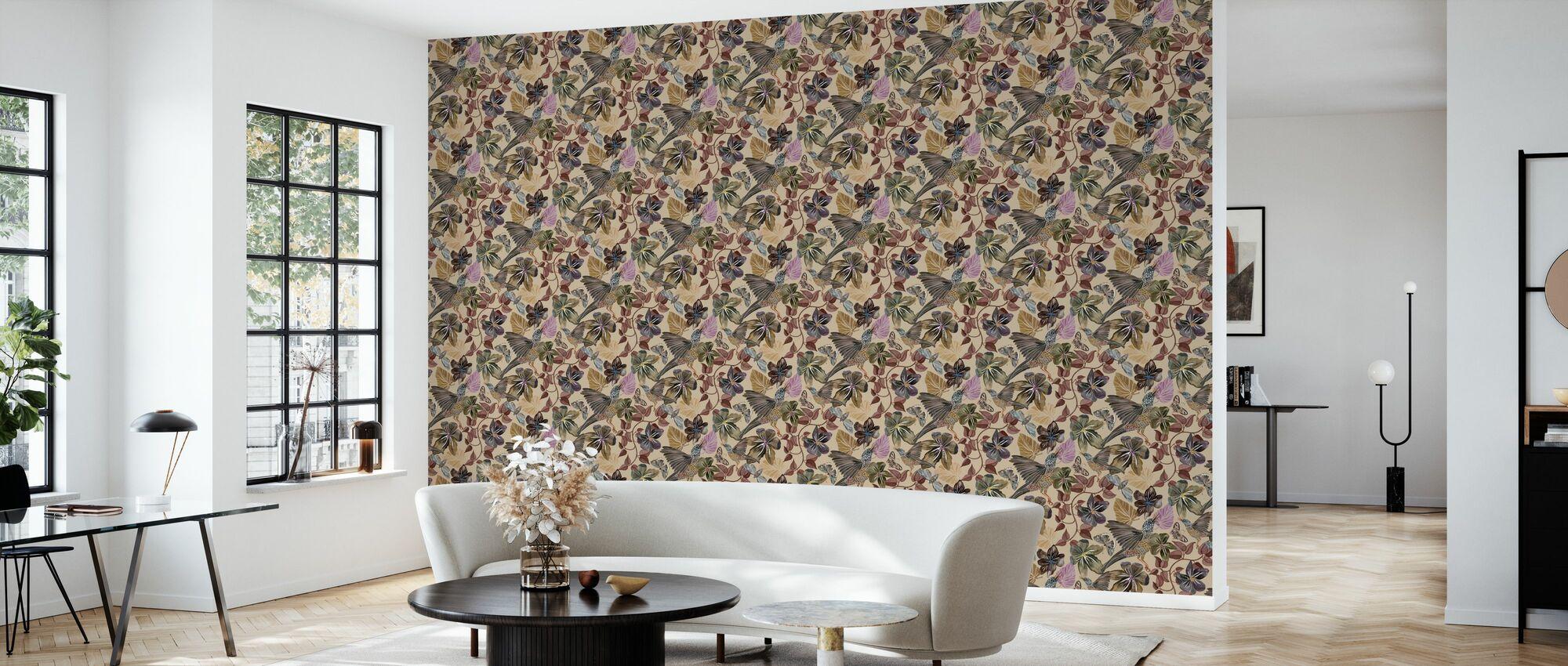 Blues  - Nougat - Wallpaper - Living Room