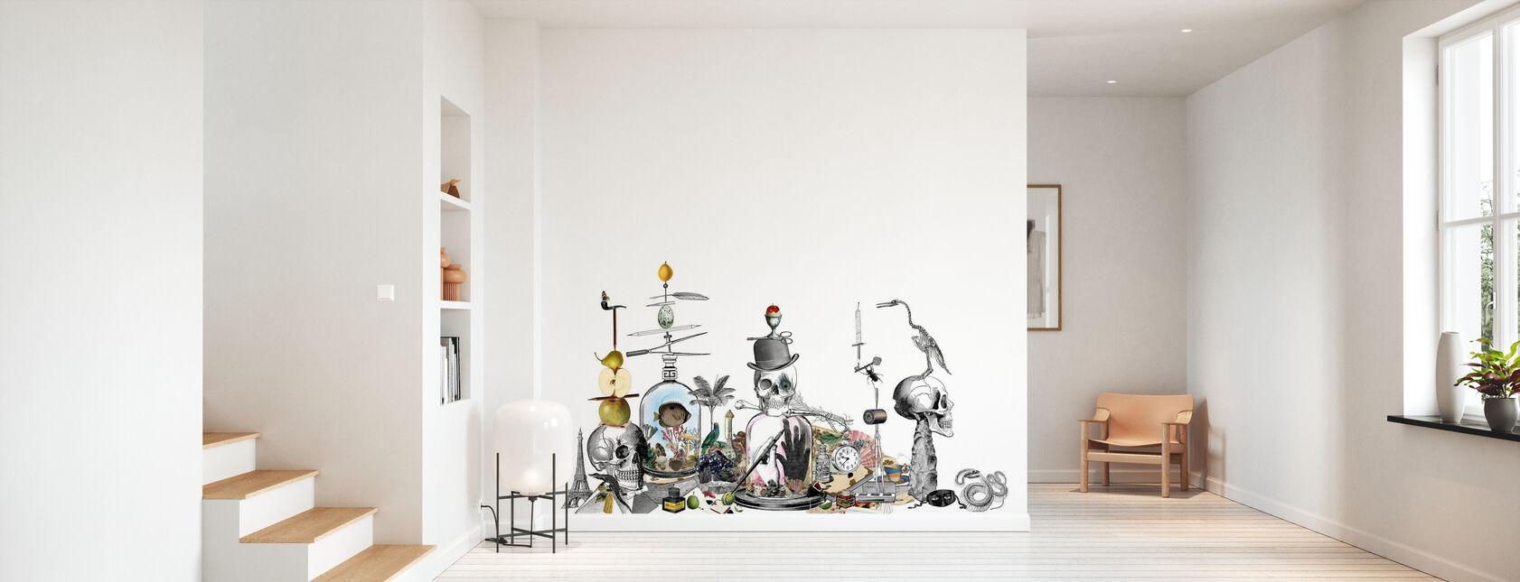 Junkyard - White - Wallpaper - Hallway