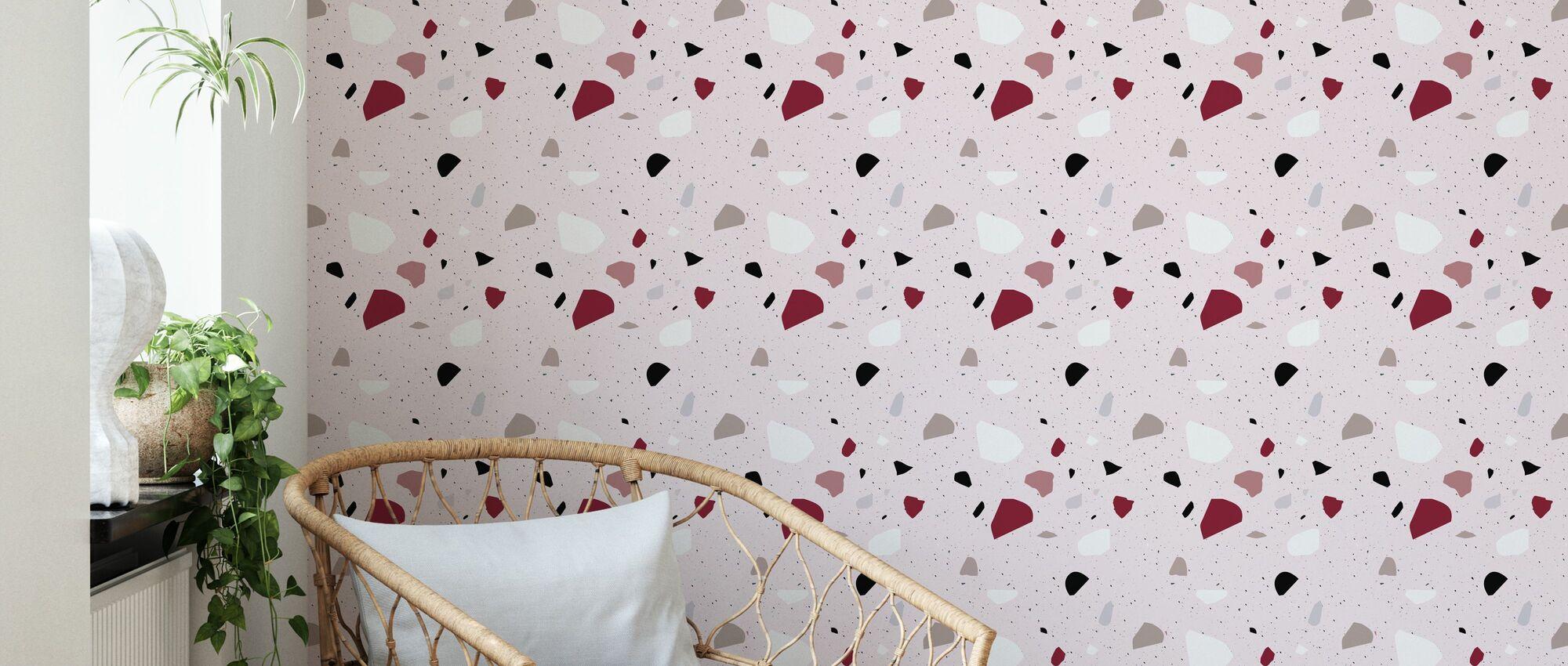Terrazzo Magnolia - Wallpaper - Living Room