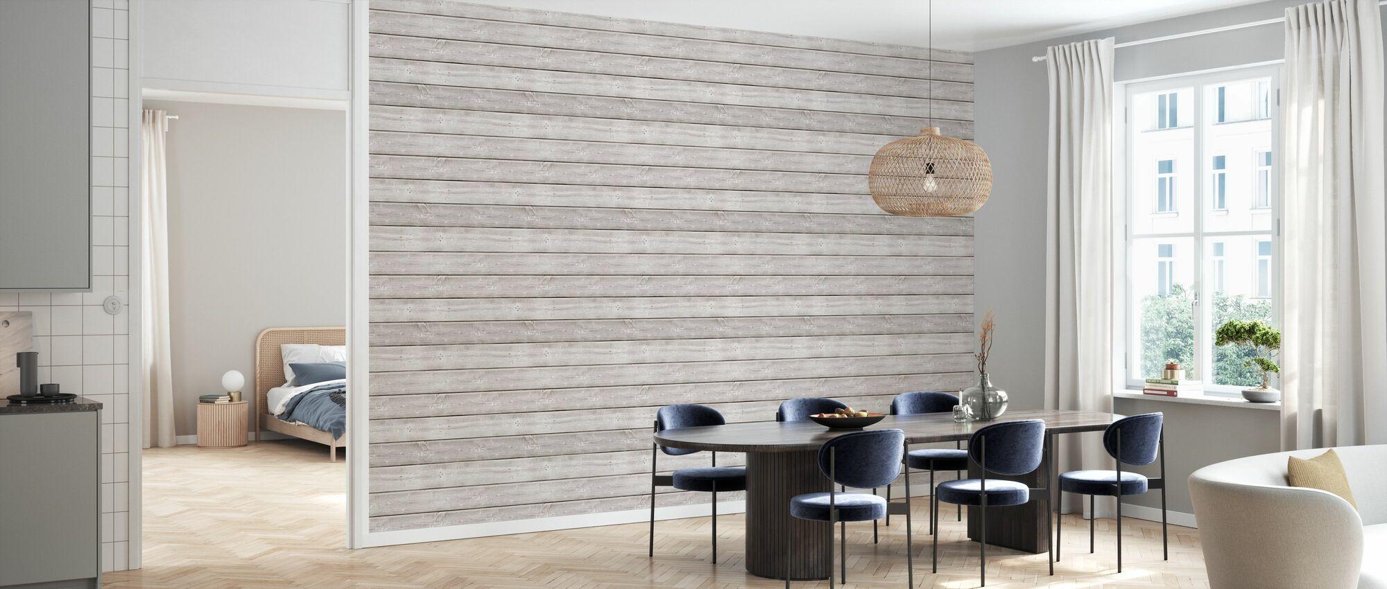 White Washed Plank - Wallpaper - Kitchen