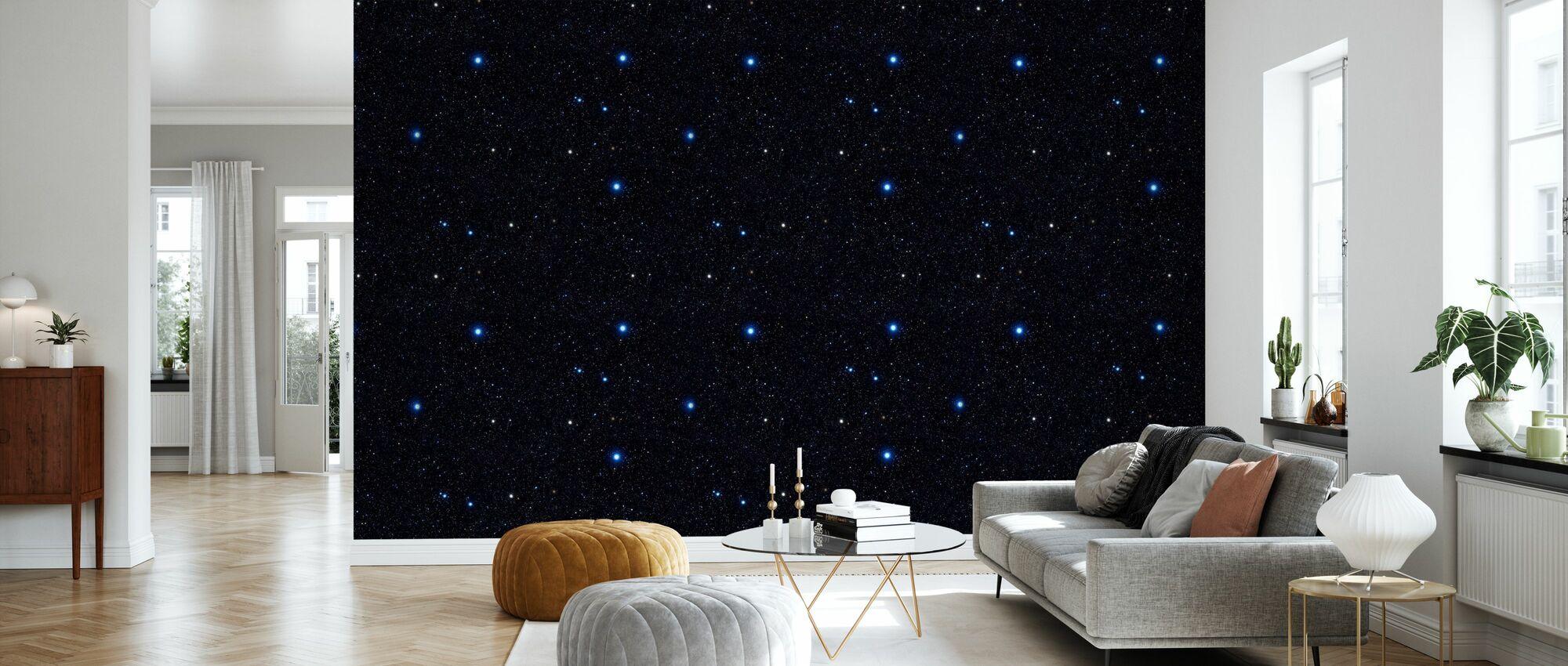 Blue Night - Wallpaper - Living Room