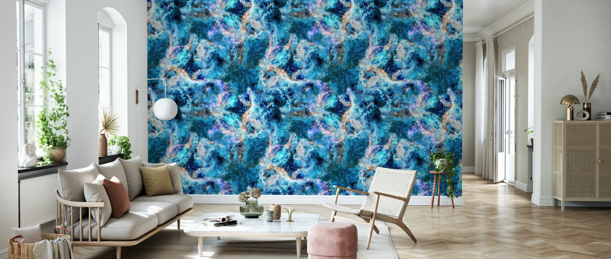 Nebula Saphire - Wallpaper - Living Room