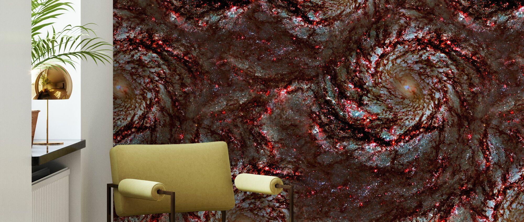 Red Swirl - Wallpaper - Living Room