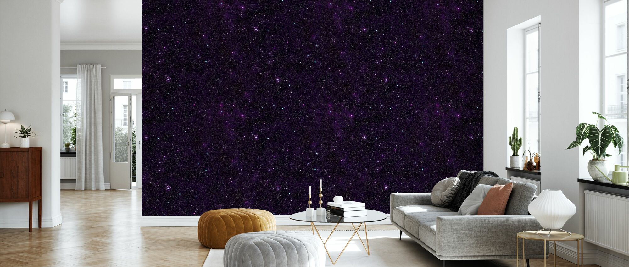 Starfield Purp - Wallpaper - Living Room