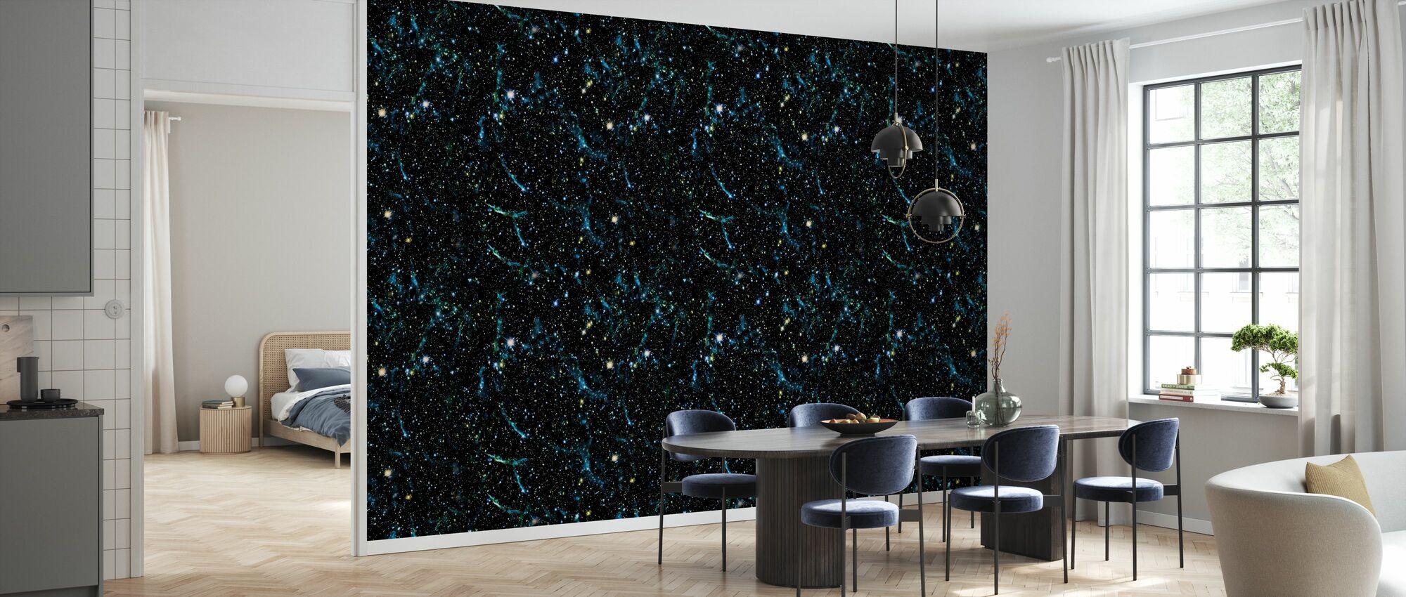 Teal Sea - Wallpaper - Kitchen
