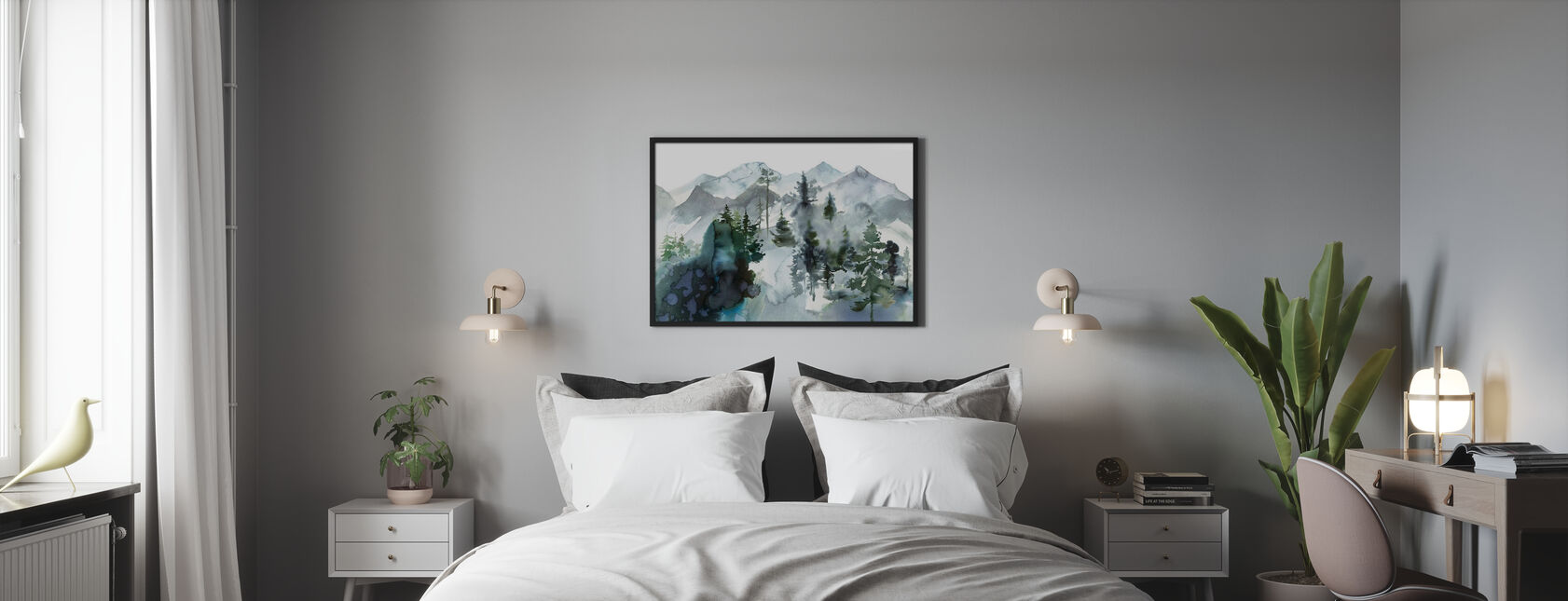 Watercolor Landscape - Poster - Bedroom